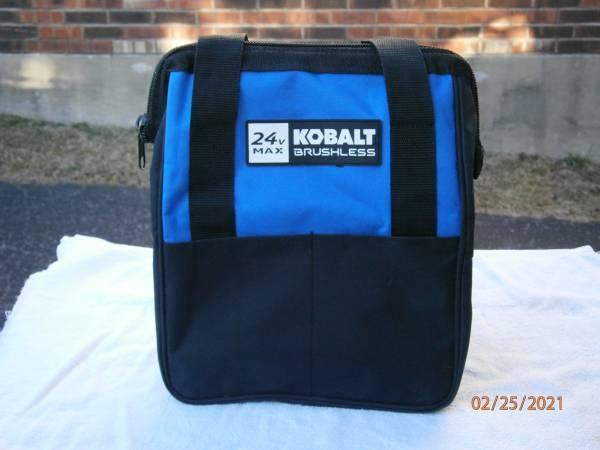 Photo New Kobalt 24 Volt Max Heavy Duty Zippered Tool Bag 12x6x12 - $10 (Lexington)