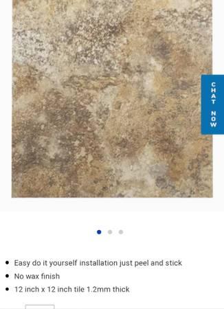 Photo Nexxus peel and stick vinyl tile - $10 (Carlisle)