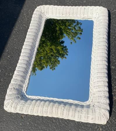 Photo White Wicker Mirror (Orig $149) - $35 (Lexington)