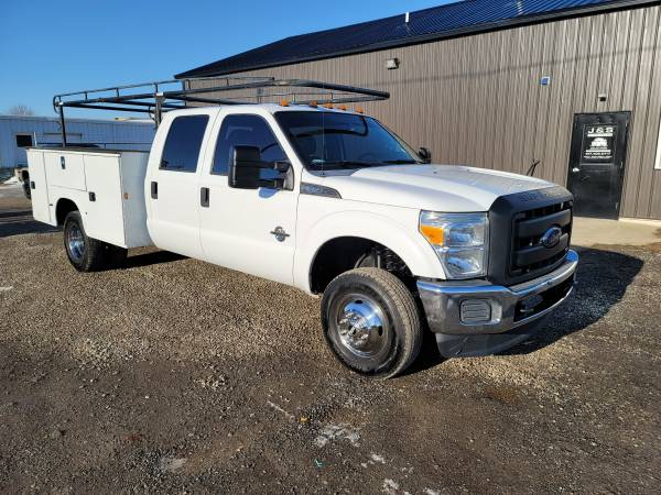 Photo 2015 FORD F350 XL DUALLY UTILITY BED 4X4 6.7 POWERSTROKE DSL SOUTHERN - $26,900 (BLISSFIELD MI)