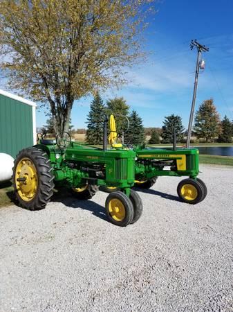 Photo 2 John Deere Tractors  one plow (Arlington)