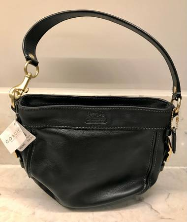 Photo Black leather Zoe Coach purse, new with tags. Centerville area pickup - $40 (Centerville)