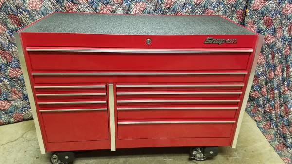 Photo Candy Apple Red Snap-on Tool Storage Chest Box. Retailed $6500 - $2500 (East of Delphos)
