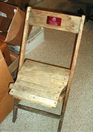 Photo Ohio State Buckeyes Stadium Seat Wooden Chair wCOA - $599 (Findlay)