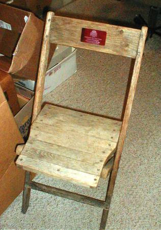 Photo Ohio State Buckeyes Stadium Seat Wooden Chair wCOA - - $599 (Findlay)