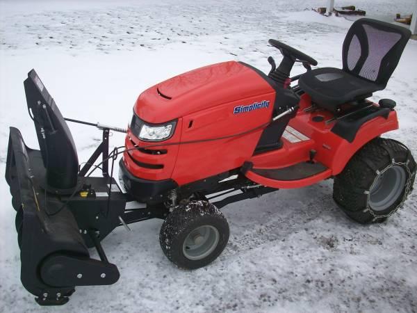 Photo Simplicity Prestige mower  snow blower - $4,800 (MINSTER)