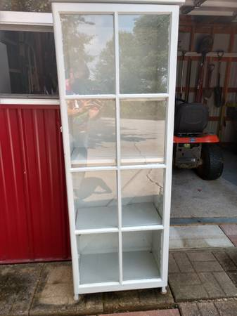 Photo Tall Glass Front Cabinet - $40 (Tiffin)