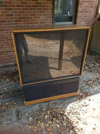 Photo 50quot oak console tv - $50 (Lincoln)