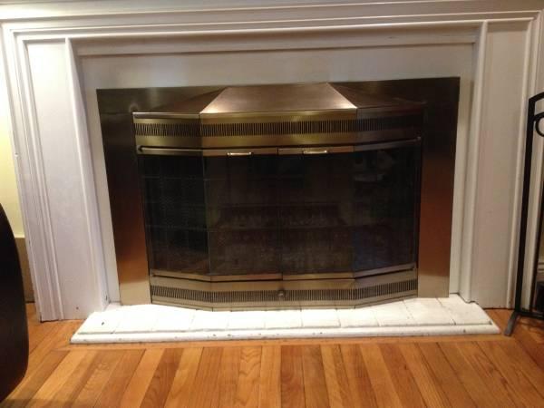 Photo Fireplace glass doors - $75