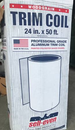 Photo Professional Grade White, Wood Grain-Look Trim Coil- Roll for $35 - $35 (Lincoln)