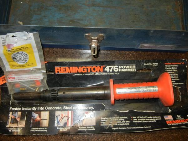 Photo REMINGTON 476 POWER HAMMER CONCRETE NAILER HAND TOOL - $15 (BEATRICE)