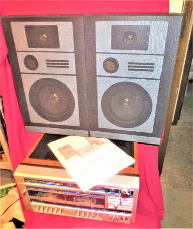 Photo Sears Vintage AMFM Stereo System Dual Cassette, BSR 3345 TurnTable - $85 (se lincoln ne)