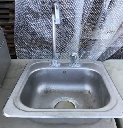 Photo Stainless Steel Bar Sink With Moen Faucet - $50 (NW Lincoln)