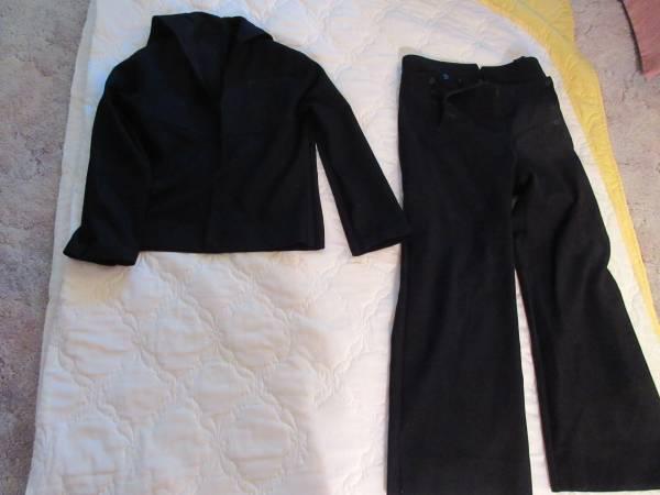 Photo US Navy Blue Cracker Jack Uniform Sailor Top Tunic  Pants Wool Vtg - $20 (Lincoln)