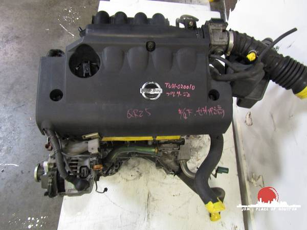 Photo 2002 2003 2004 2005 2006 JDM NISSAN ALTIMA SENTRA 2.5L ENGINE MOTOR - $650 (Houston)