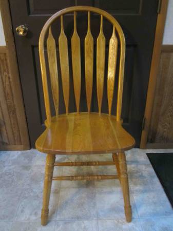 Photo 4 OAK DINING CHAIRS MATCHING - $100 (HEBER SPRINGS)