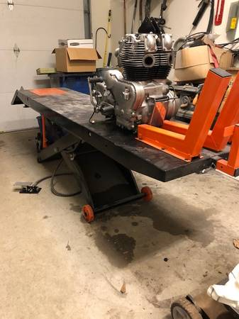 Photo APlus 1,500 lb. Pneumatic Motorcycle Lift and Bench - $400 (North Little Rock)