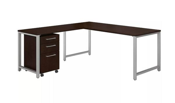 Photo Brand New - Bush Business Furniture L-Shaped Desk w3 Drawer File - $499 (Jacklsonville)