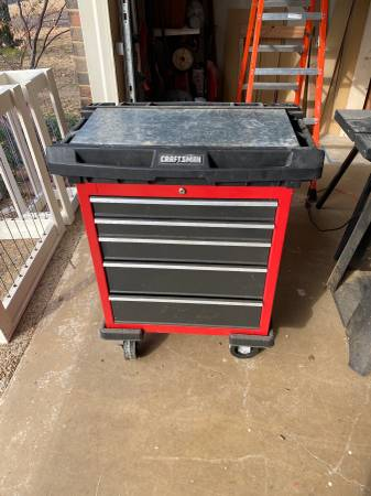 Photo Craftsman tool chest, router table and tools - $100 (Little Rock)