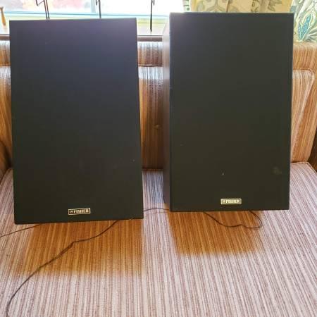 Photo Fisher Stereo Speakers(wood) - $40 (Camden)