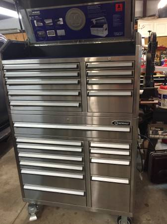 Photo Kobalt 20 Drawer Tool Box - $800 (Cabot)