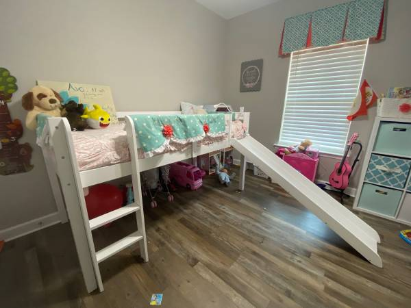 Photo Loft Bed with Slide- Twin Size - $100 (Ward)