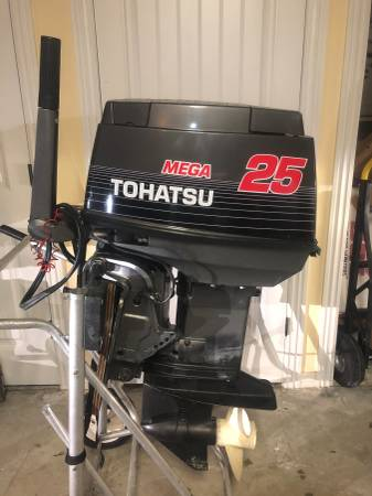 Photo Nissan Tohatsu Mega Outboard Boat Motor 25 40 Estart Start ShortShaft - $3400 (Springdale)