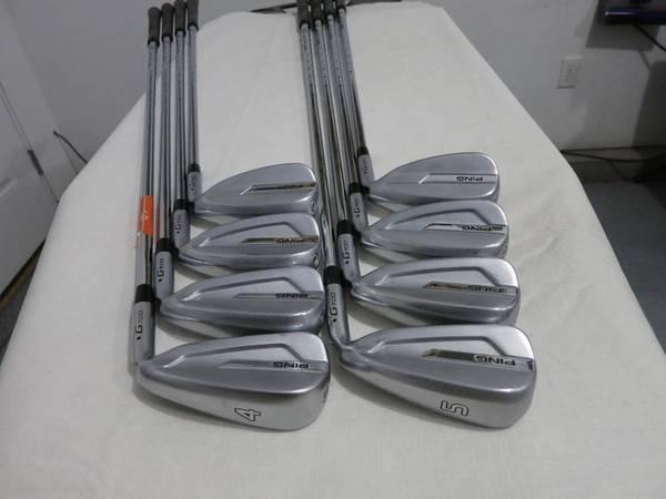 Photo Ping G700 Iron Set G-700 - 4-PW, Regular Flex Steel - Blue Dot - $450 (Little Rock)