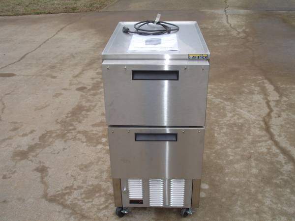 Photo Silver King SKSDC4 Refrigerated Lettuce Crisper Dispenser Stainless - $2,900