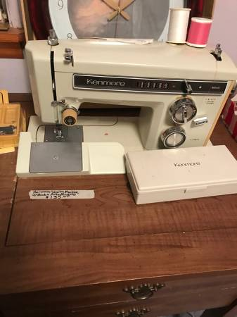 Photo Two sewing machines in wood cases, Kenmore and Sears - $75 (NORTH LITTLE ROCK)