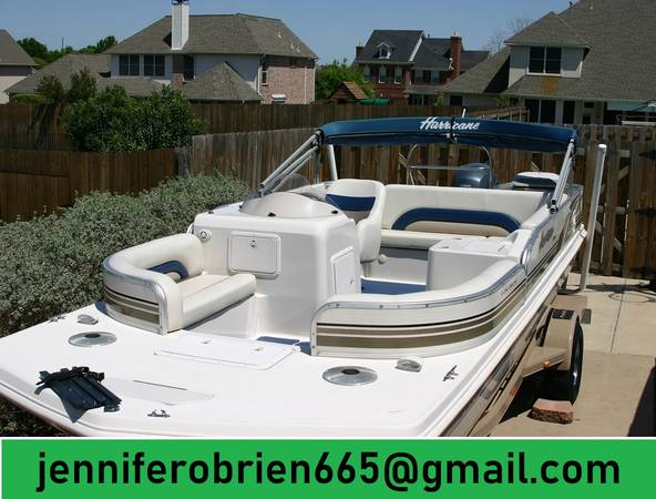 Photo Very Good 2003 Hurricane Deck Boat - $1,400 (Atkins)