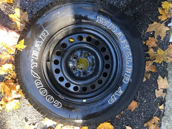 Photo 1 WHEEL GOODYEAR WRANGLER AP T24570R16 - $49 (mineola)