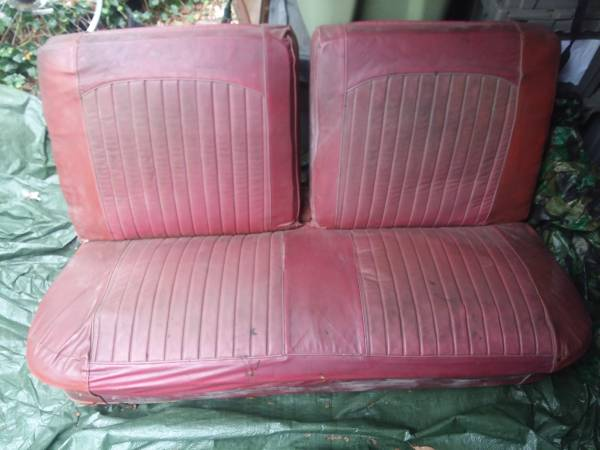 Photo 62 63 64 Chevy Impala Bel Air Biscayne Front 2 Door Split Folding Benc - $200 (Mount Sinai)
