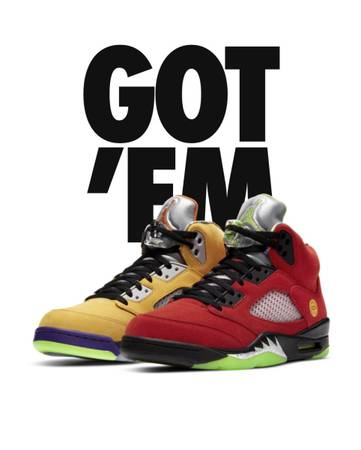 Photo Air Jordan 5 Retro SE What The Mens Size 10.5 - $300 (Plainview)