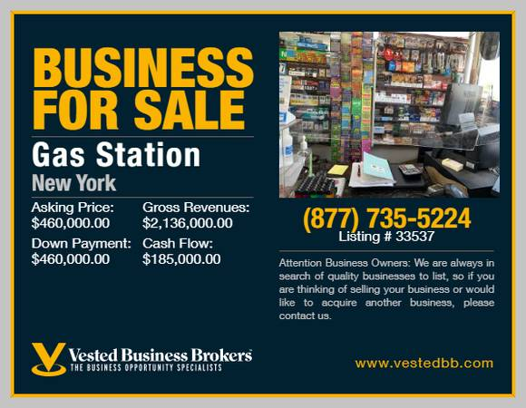 Photo Branded Gas Station for sale in Nassau County -33537 - $460,000 (Nassau County, NY)