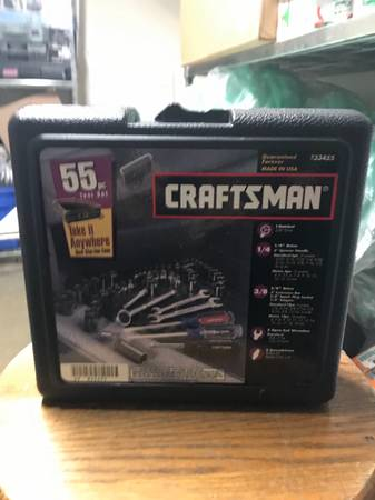 Photo Craftsman 55pc Mechanics Socket  Tool Set 14, 38 SAE  Metric 9-334 - $60 (Huntington)