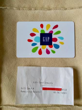 Photo Gap Gift Card--$65.06 - $55 (Woodmere)