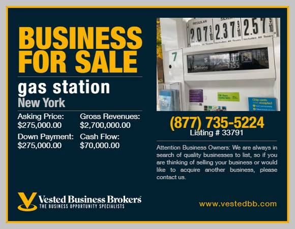 Photo Gas  C-Store for sale in Nassau County- 33791 - $275,000 (Nassau County, NY)