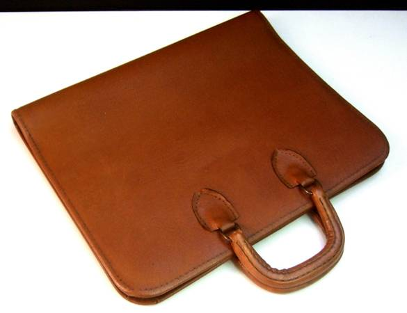 Photo Genuine Leather Zippered Art Portfolio Document Folio Mint Condition - $66 (Port Jefferson)