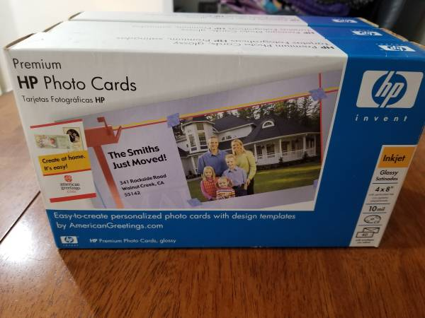 Photo HP photo cards - $20 (Bellmore)