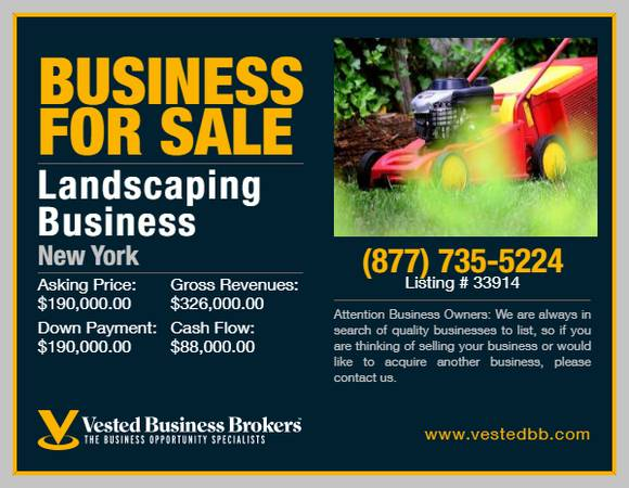 Photo High End Landscaping Business for sale in New York-33914 - $190,000 (Suffolk County, NY)