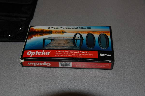 Photo Opteka 3-Piece Glass Filter Kit 58MM (UVCPLND8) - $7 (Lindenhurst)