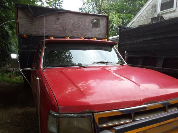Photo PARTS ONLY 1997 FORD F450 SUPER DUTY DUMP TRUCK - $3,000 (Central Islip)