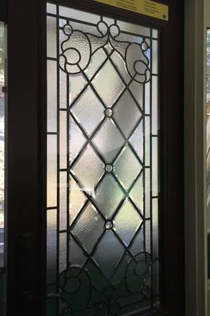 Photo Pella leaded glass front door NEW - $1,500
