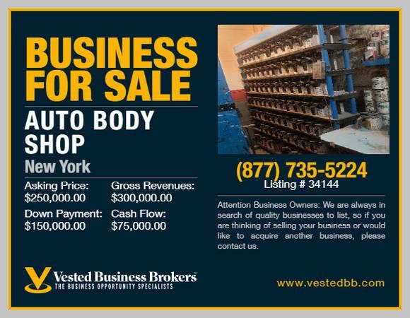 Photo Profitable Auto Body Shop for sale  34144 - $250,000 (Nassau County, NY)