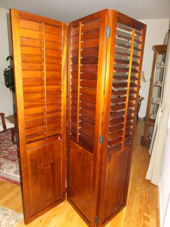 Photo Room Divider - Shutters Pier One - $190 (Miller Place NY, 11764)