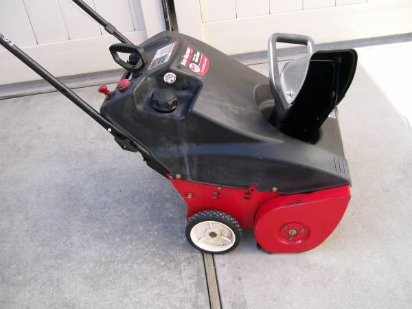Photo Yard Machines 123cc Snowblower - $100 (Jericho)