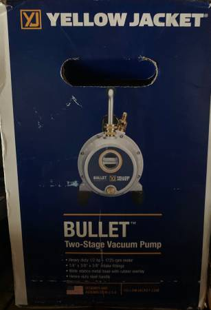 Photo Yellow Jacket Bullet Two-Stage Vacuum Pump 93600 Brand New in Box - $400 (Shirley, NY)