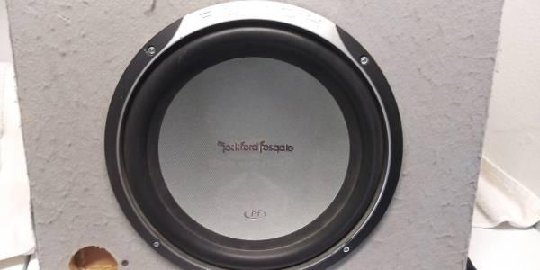 Photo 12 inch subwoofer, rockford fosgate P1, 300W - $40 (Rosamond)