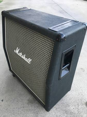Photo 1979 Marshall 4X12 Checker Grille 1960A Guitar Speaker Cabinet 1960A - $550 (El Monte)